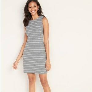 Old Navy | Grey Striped Sheath Dress | M